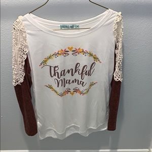 Thankful mama shirt